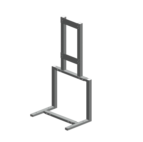Universal air handler rack assembly